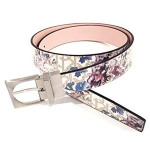 Calvin Klein Watercolor Floral Reversible Belt